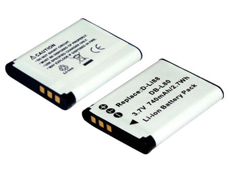 Replacement for PENTAX D-LI88 Digital Camera Battery(Li-ion 740mAh)