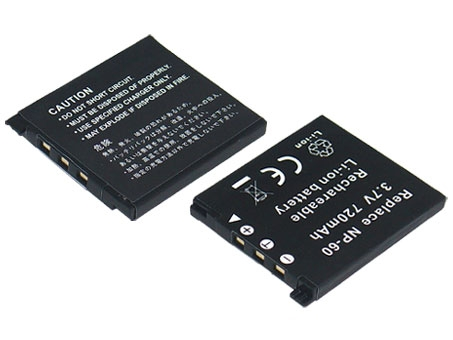 Replacement for CASIO NP-60 Digital Camera Battery(Li-ion 720mAh)