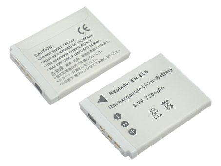 Replacement for NIKON EN-EL8 Digital Camera Battery(Li-ion 650mAh)