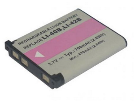 Replacement for OLYMPUS LI-40B Digital Camera Battery(Li-ion 700mAh)